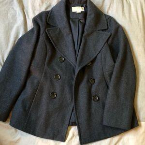 MICHAEL KORS | Charcoal Grey Peacoat Size M